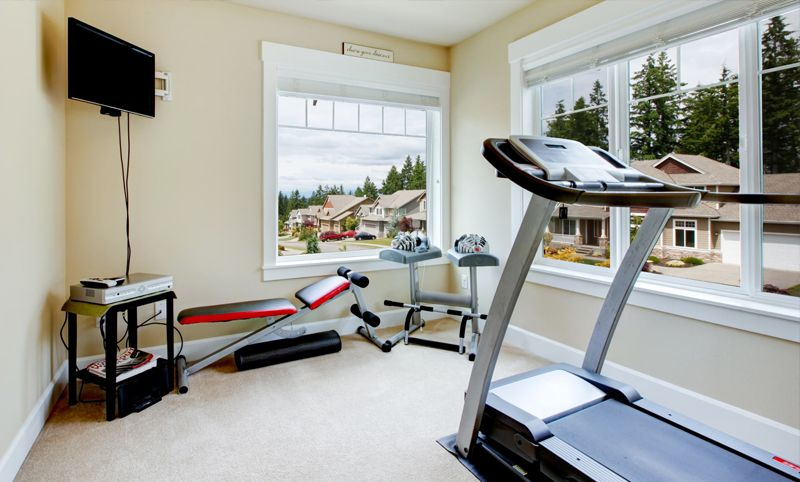 get fit at home build your ultimate garage gym. Black Bedroom Furniture Sets. Home Design Ideas