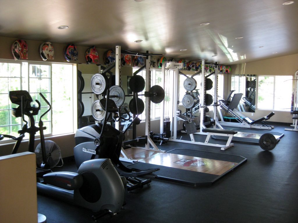 Home gym ideas garage basement at checklist template