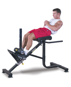 Roman Chairs Crunch helps to reduce your Abdominal Muscles by Garage Gym