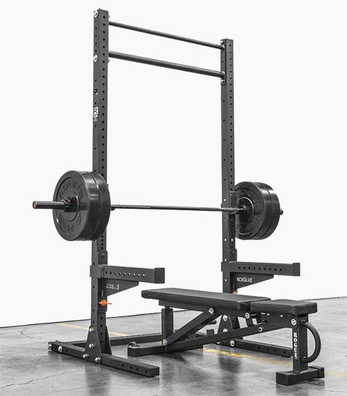 The Rogue 90: Monster Lite Squat Rack - Garage Gym