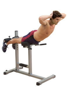 Twisting Hyperextensions is an Effective Roman Chair Workout for Flexible Backs by Garage Gym