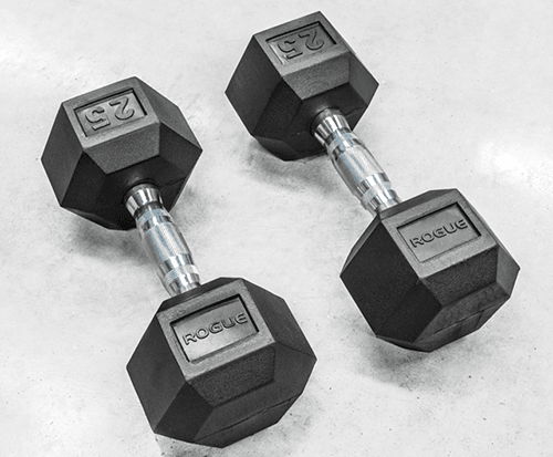 Rogue Rubber Hex Dumbbells Review By Garage Gym
