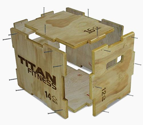 "Titan Fitness 12"" 14"" 16"" Wood Plyometric Box Review by Garage Gym"