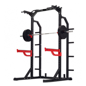 Half rack with spotter arms