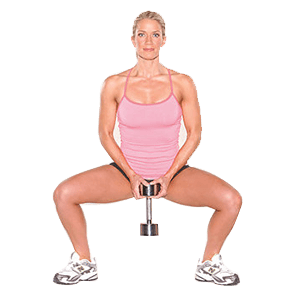 7. How to do squats with dumbbells