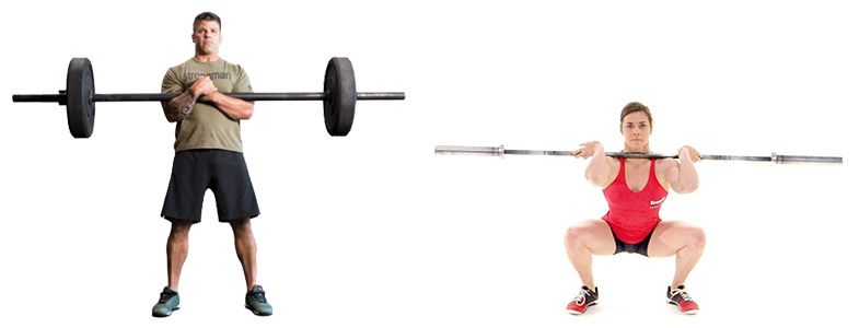 8. Zercher squat vs. front squat