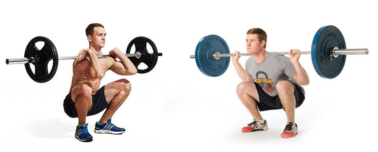 9. Front squat vs. back squat