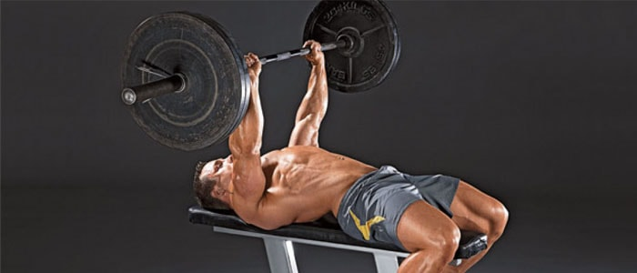 The close grip bench press