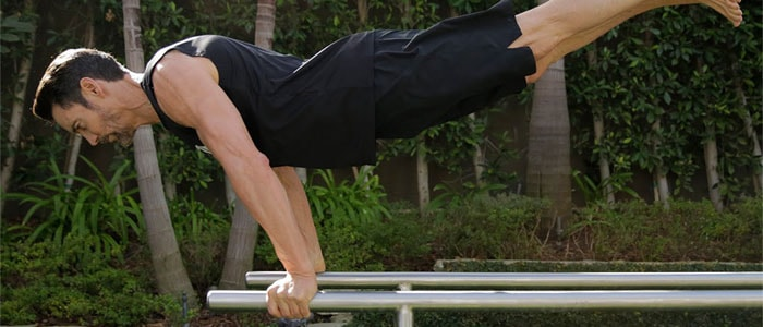 The parallel bar dip