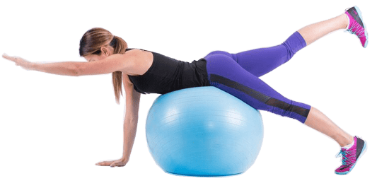 Swimming Kick with Exercise Ball